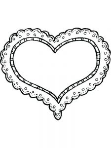 Valentines Day Colouring Pages Cards