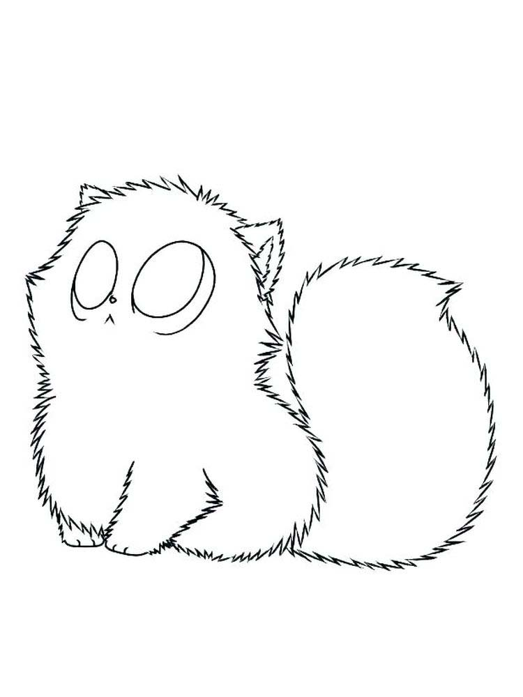 Very Cute Kitten Coloring Pages
