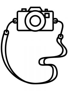 Video Camera Coloring Page