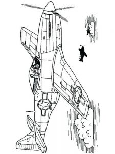 War Airplane Coloring Pages