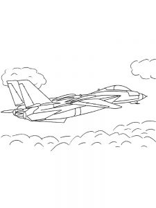 War Jet Airplane Coloring Pages