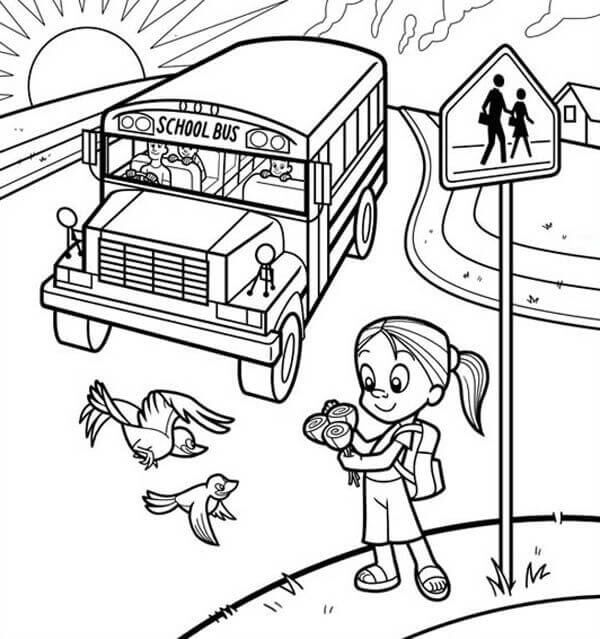 Welcome Back To School Coloring Pages Printable 1