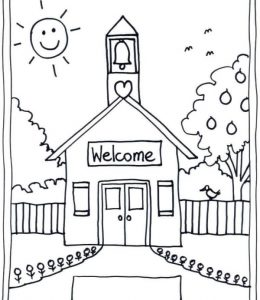 Welcome Back To School Coloring Sheets