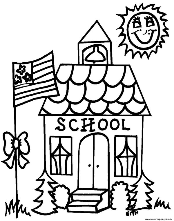 Welcome Back To School For Kids Coloring Pages Printable