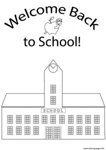Welcome Back To School Kids Coloring Pages Printable