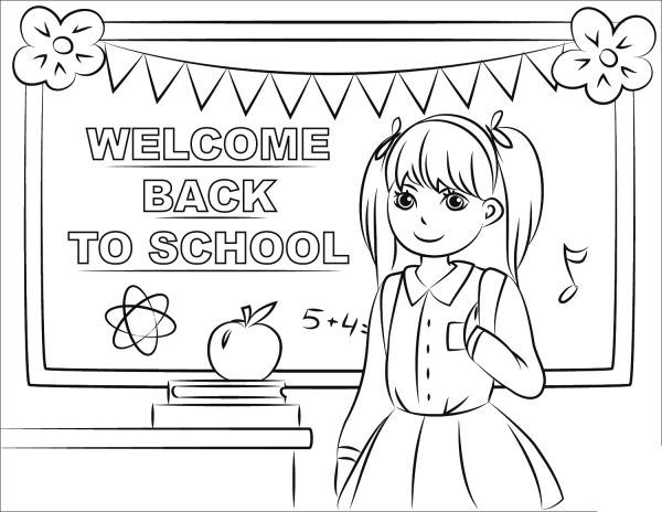 Welcome to school coloring pages