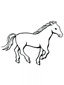 Wild Horse Herd Coloring Pages