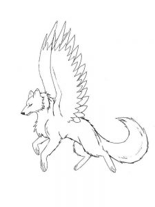Wolves Fighting Coloring Pages