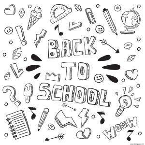 Word Back To School Fun Coloring Pages Printable