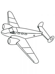 World War 2 Airplane Coloring Pages
