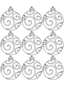 Xmas Ornament Coloring Pages