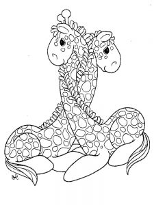 Zebra And Giraffe Coloring Pages