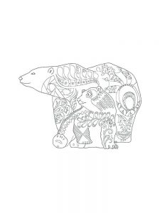 Zentangle bear coloring pages
