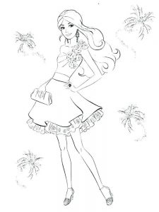 a barbie coloring page