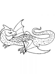a dragon coloring page