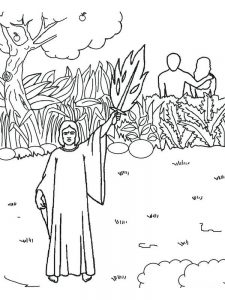 adam and eve apple coloring pages free