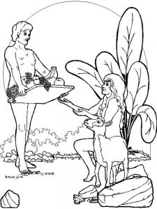 adam and eve bible coloring pages free