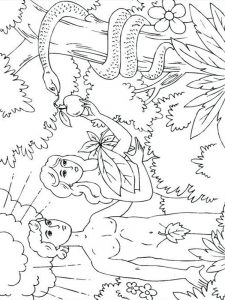 adam and eve bible colouring pages free