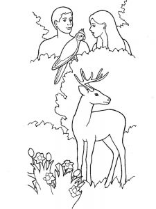 adam and eve bible story coloring pages free