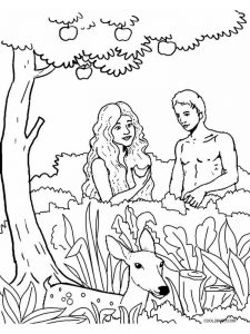 adam and eve coloring pages images