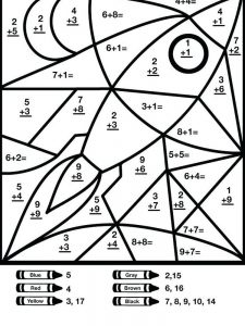 addition coloring pages 2nd grade