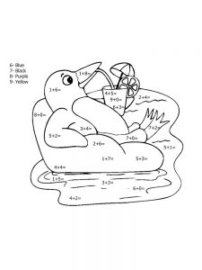 addition coloring pages 3rd grade