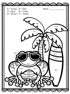 addition coloring pages fall