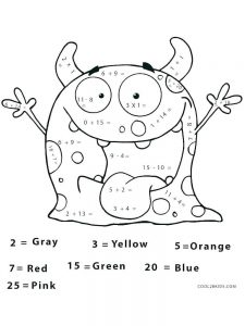 addition coloring pages pdf
