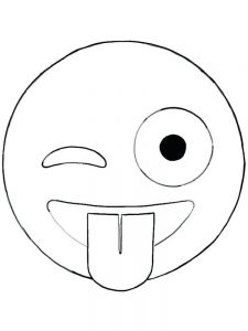 afraid face coloring page