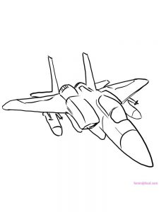 airplane coloring page for preschool