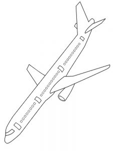 airplane coloring pages 1