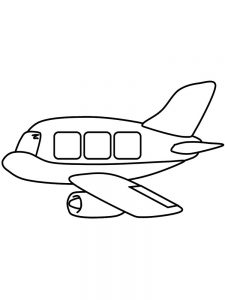 airplane with banner coloring page