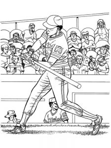 all star baseball coloring pages