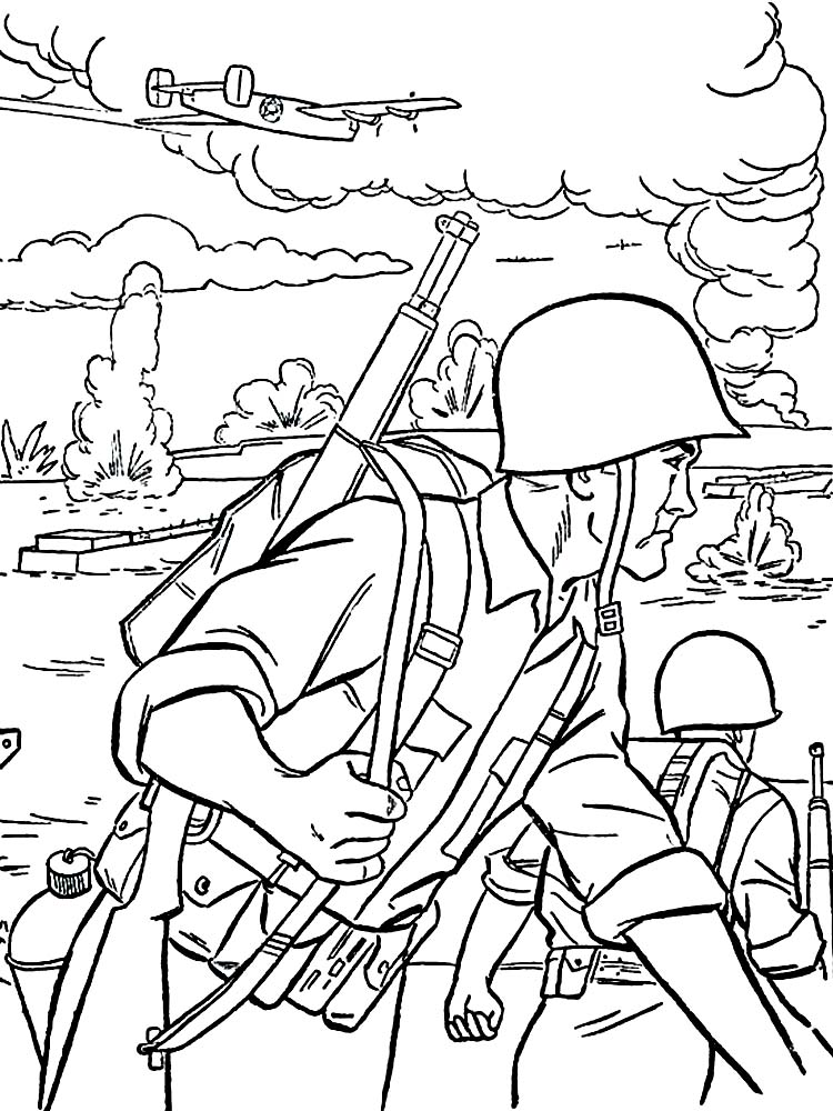 american soldier coloring pages free