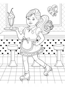 angel lol doll coloring page