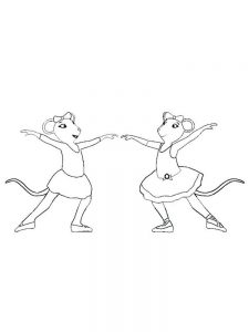 angelina ballerina coloring pages free