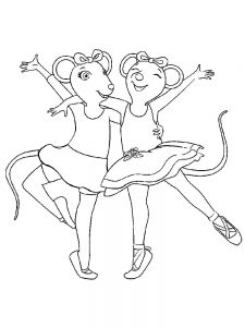 angelina ballerina coloring pages printable