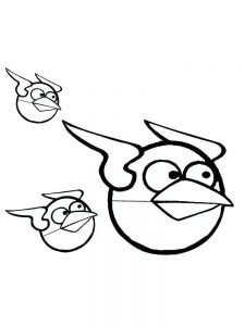angry bird coloring pages flying