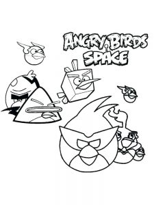 angry bird galaxy coloring pages