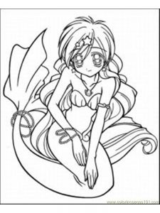 anime angel girl coloring pages