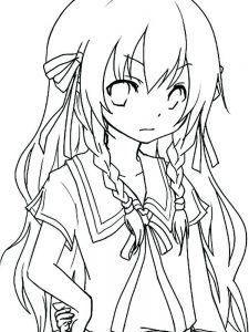 anime coloring pages deviantart
