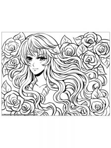 anime coloring pages for free