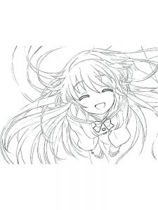 anime cute girl coloring pages