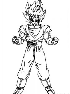 anime dragon ball z coloring pages