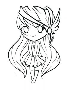 anime girl coloring pages for adults