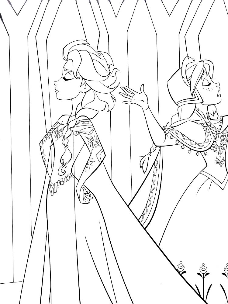 Anna Frozen 2 Coloring Page