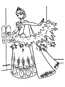 anna frozen coloring page free