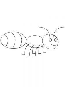 ant coloring pages for kid