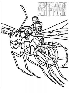 antman and the wasp coloring pages