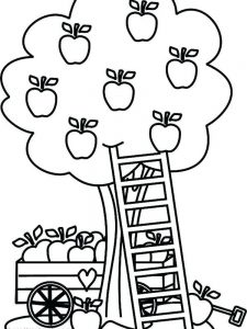apple tree coloring pages printable